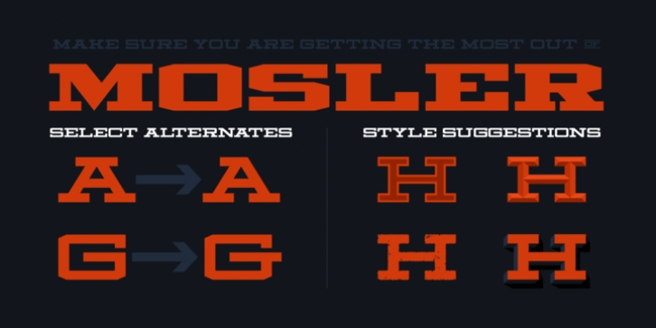Mosler font preview
