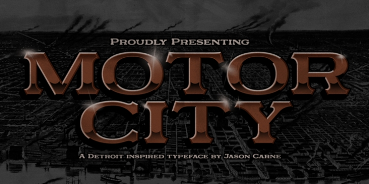Motor City font preview