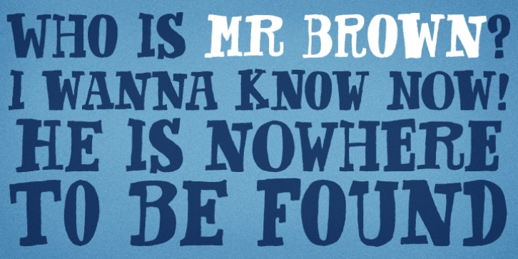 Mr Brown font preview