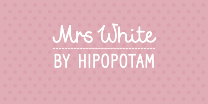 Mrs White font preview