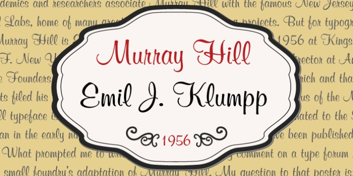 Murray Hill font preview