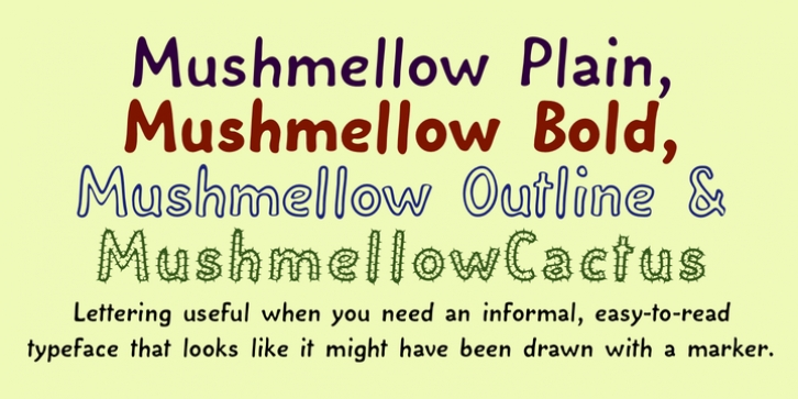 Mushmellow font preview