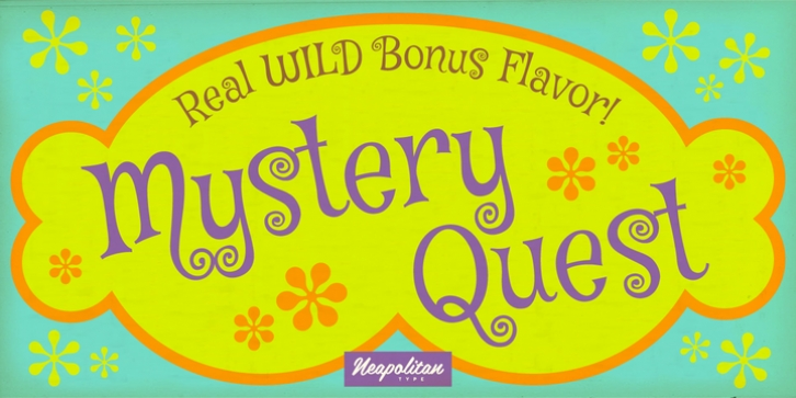 Mystery Quest Pro font preview
