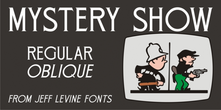 Mystery Show JNL font preview