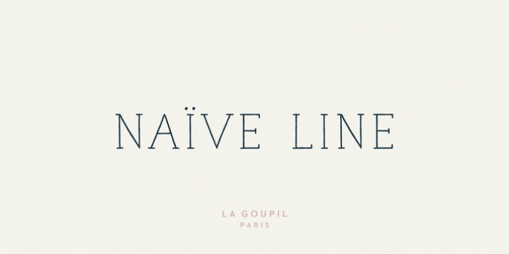Naive Line font preview