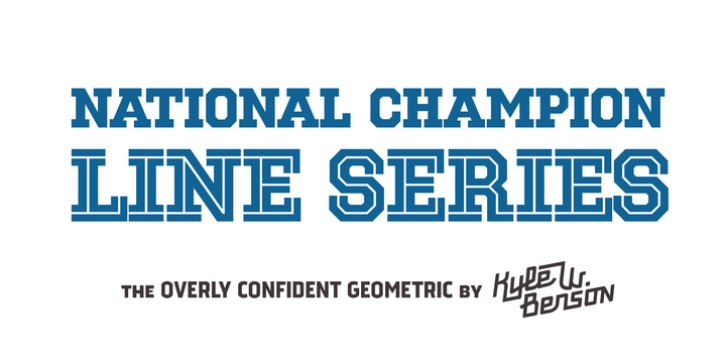 National Champion Line Series font preview