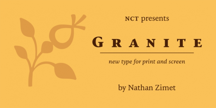 NCT Granite font preview