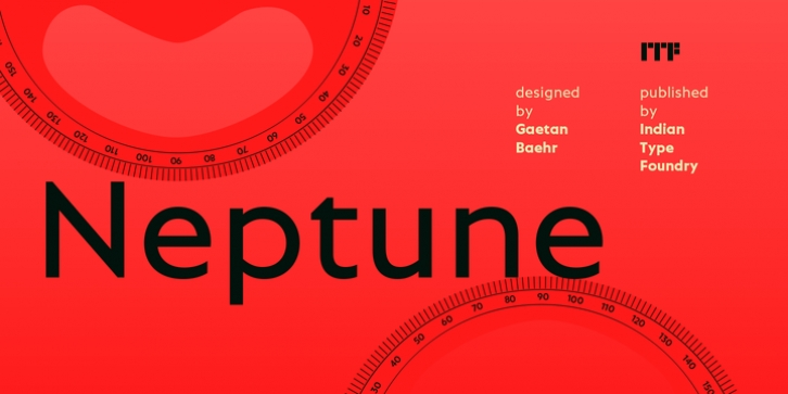 Neptune font preview