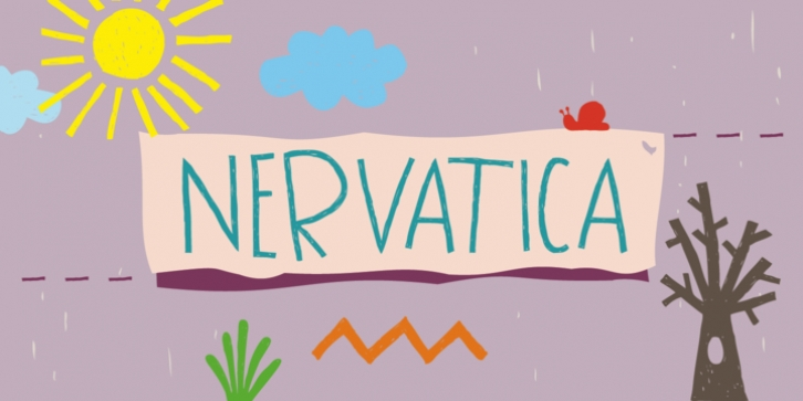 Nervatica font preview