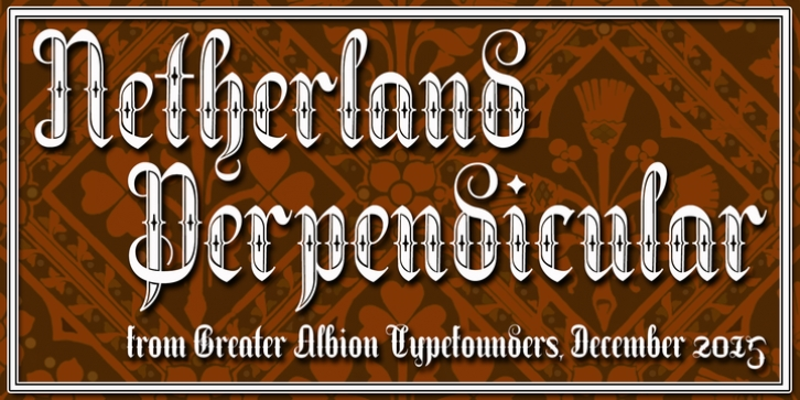 Netherland Perpendicular font preview