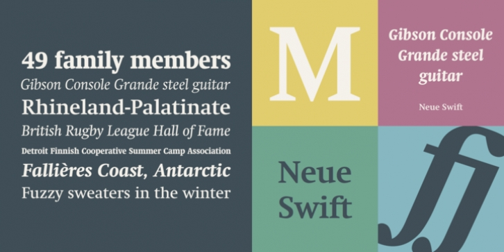 Neue Swift font preview