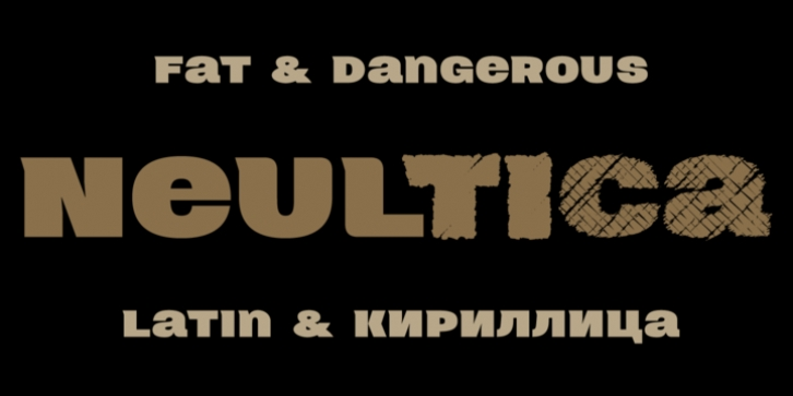 Neultica 4F font preview