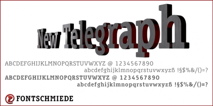 New Telegraph font preview