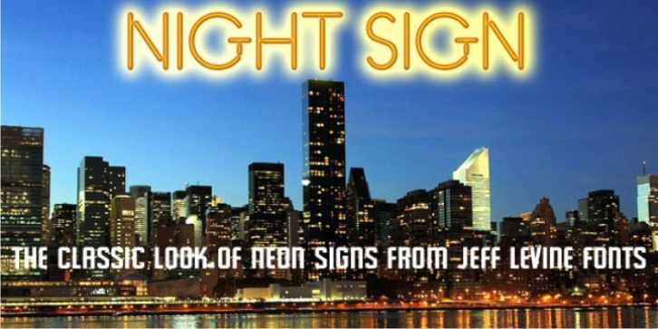 Night Sign JNL font preview