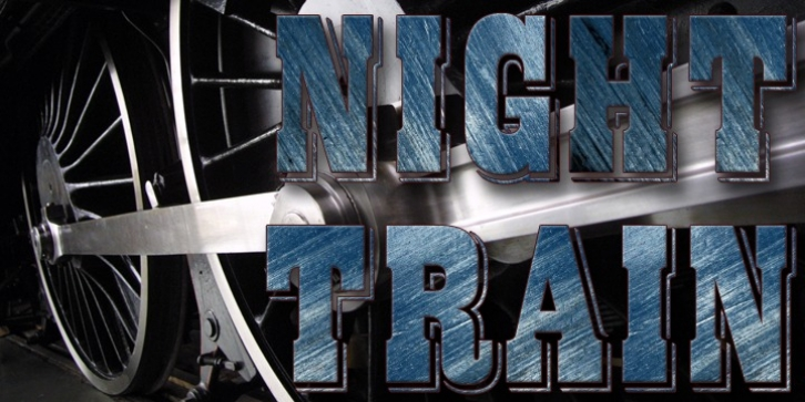 Night Train font preview