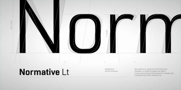 Normative Lt font preview