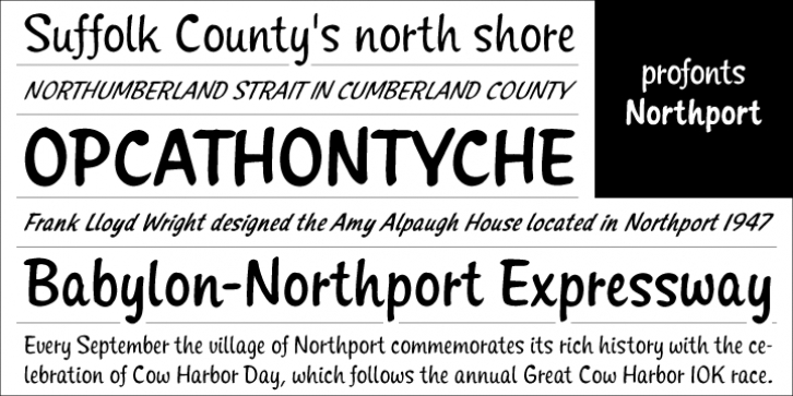 Northport font preview