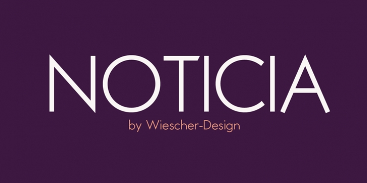 Noticia font preview