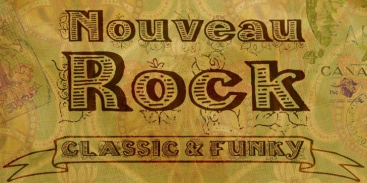 Nouveau Rock font preview