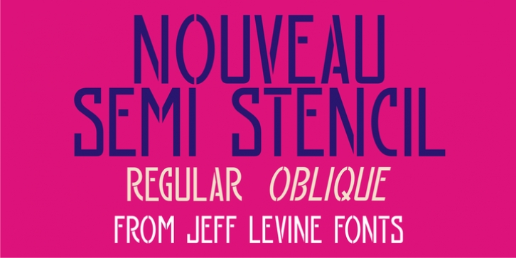 Nouveau Semi Stencil JNL font preview