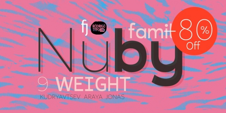 Nuby font preview
