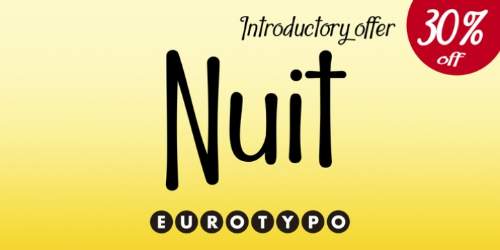 Nuit font preview