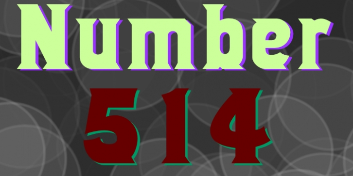 Number 514 font preview