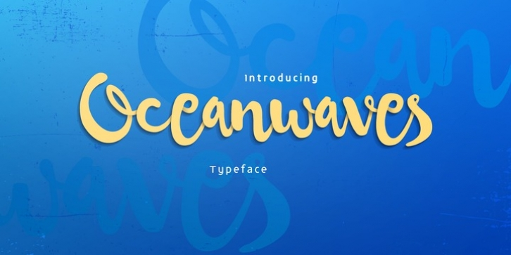 Oceanwaves font preview