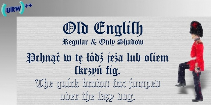 Old English font preview