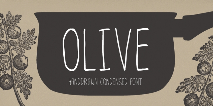 Olive font preview