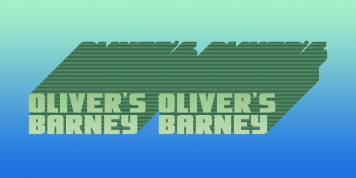Olivers Barney font preview