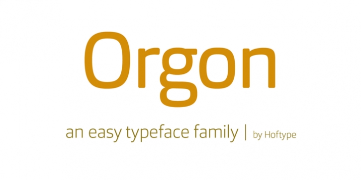 Orgon font preview