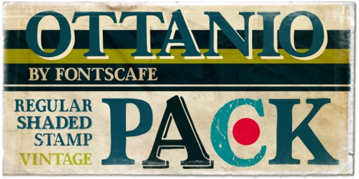 Ottanio Pack font preview