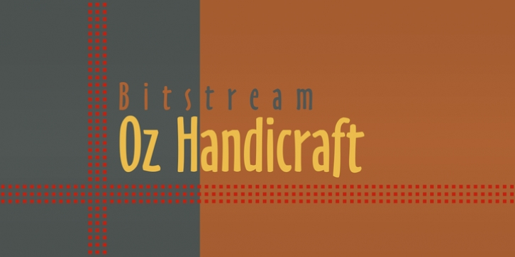 Oz Handicraft BT font preview