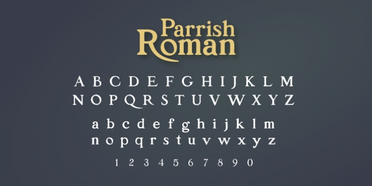 P22 Parrish font preview