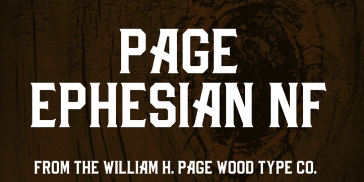 Page Ephesian NF font preview