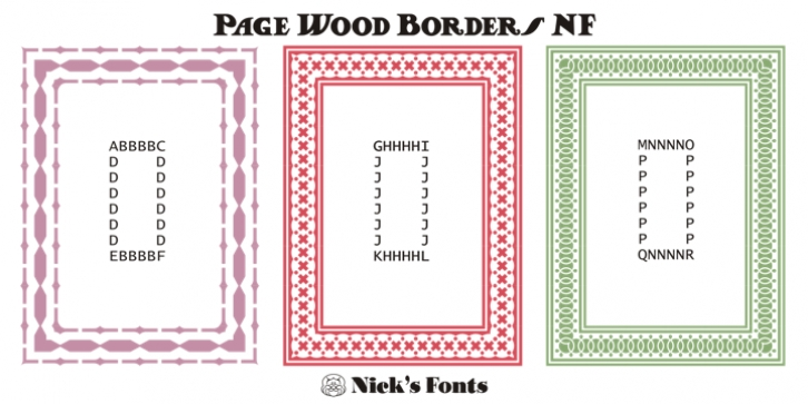 Page Wood Borders NF font preview