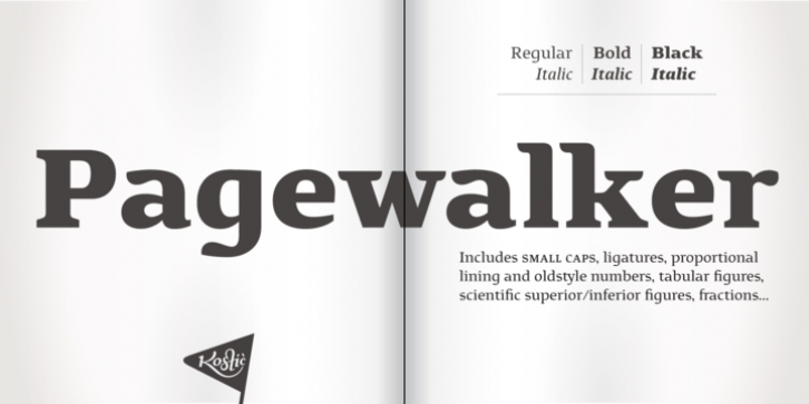 Pagewalker font preview