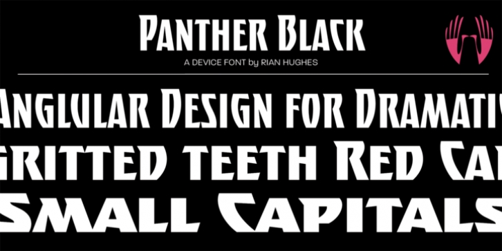 Panther Black font preview