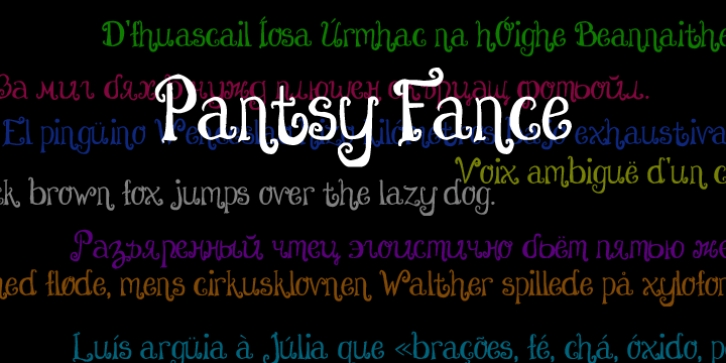 Pantsy Fance font preview