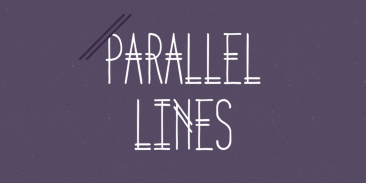 Parallel Lines font preview