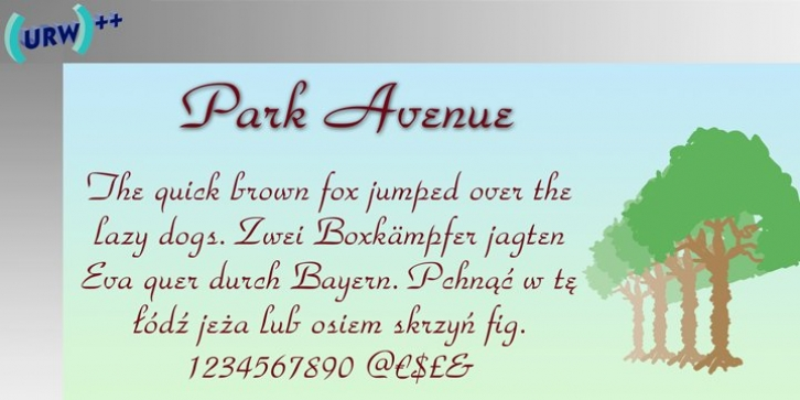 Park Avenue font preview