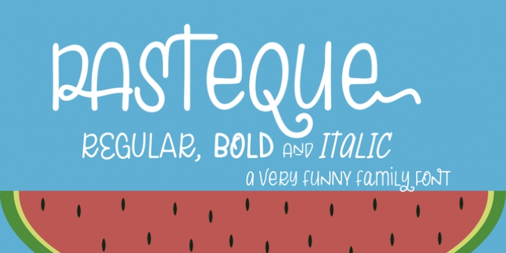 Pasteque font preview