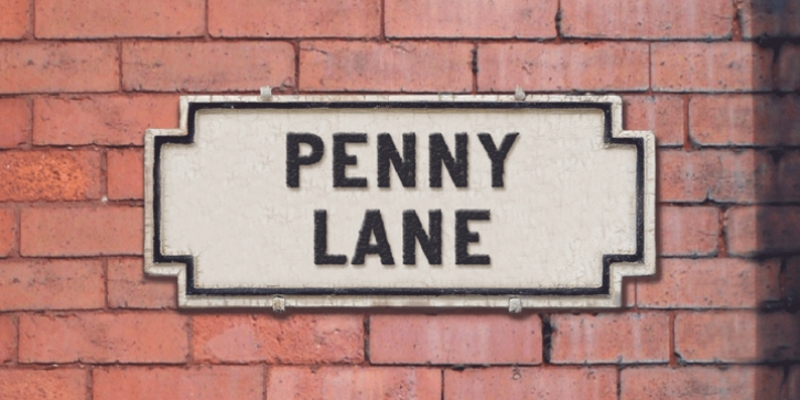 Penny Lane font preview