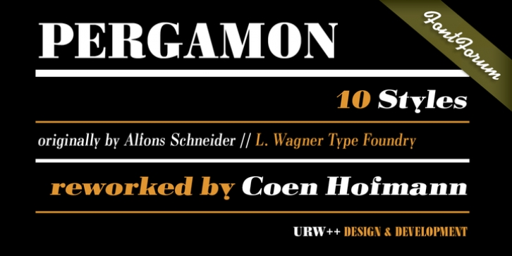 Pergamon font preview