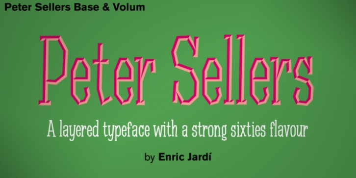 Peter Sellers font preview