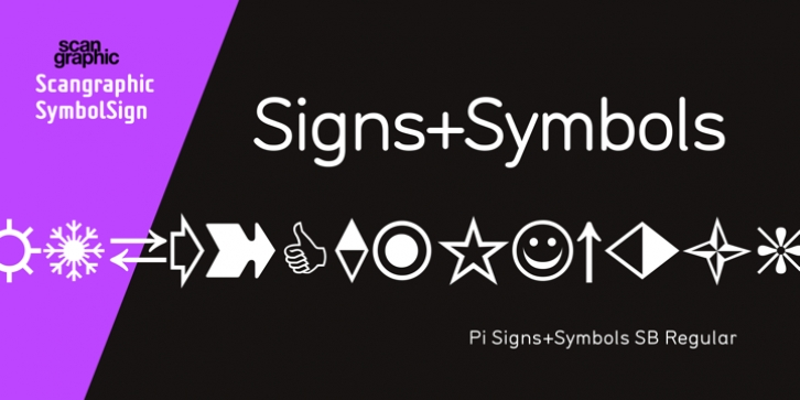 Pi Signs+Symbols font preview