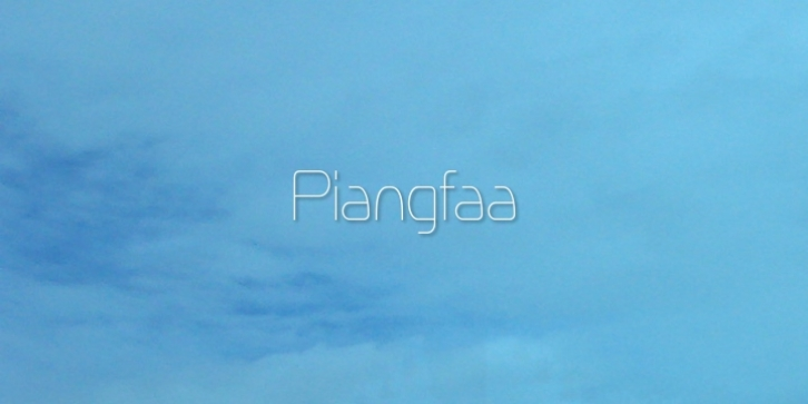 Piangfaa font preview