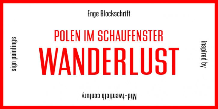 PiS Wanderlust font preview