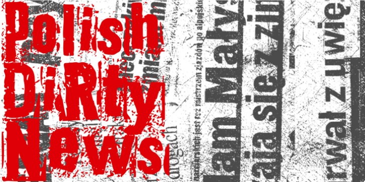 Polish Dirty News font preview